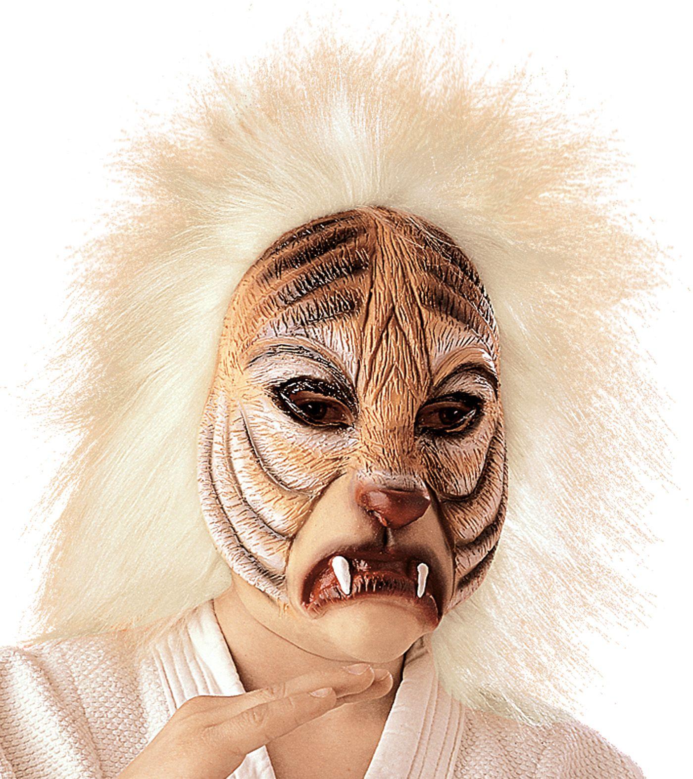 Pluche tijger masker kind