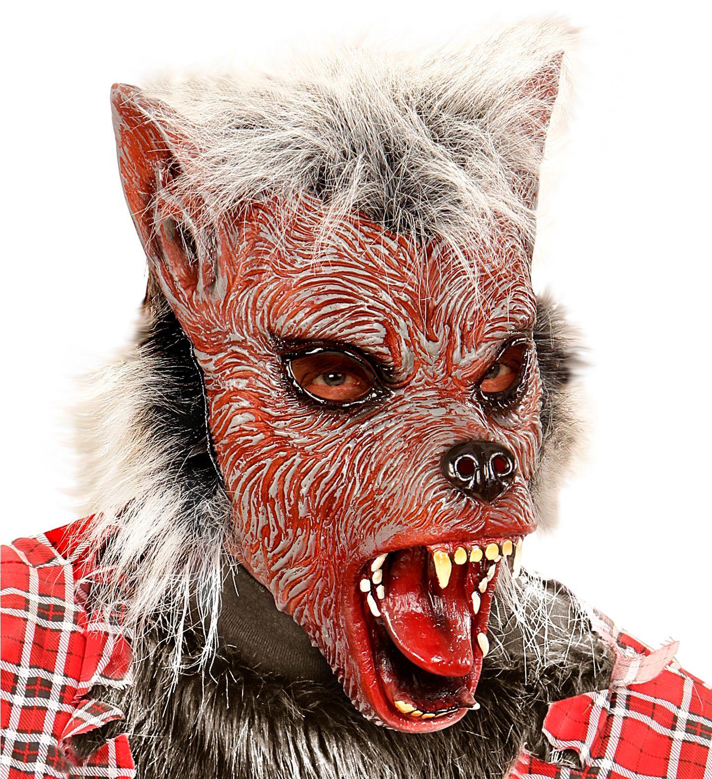 Pluche weerwolf masker kind