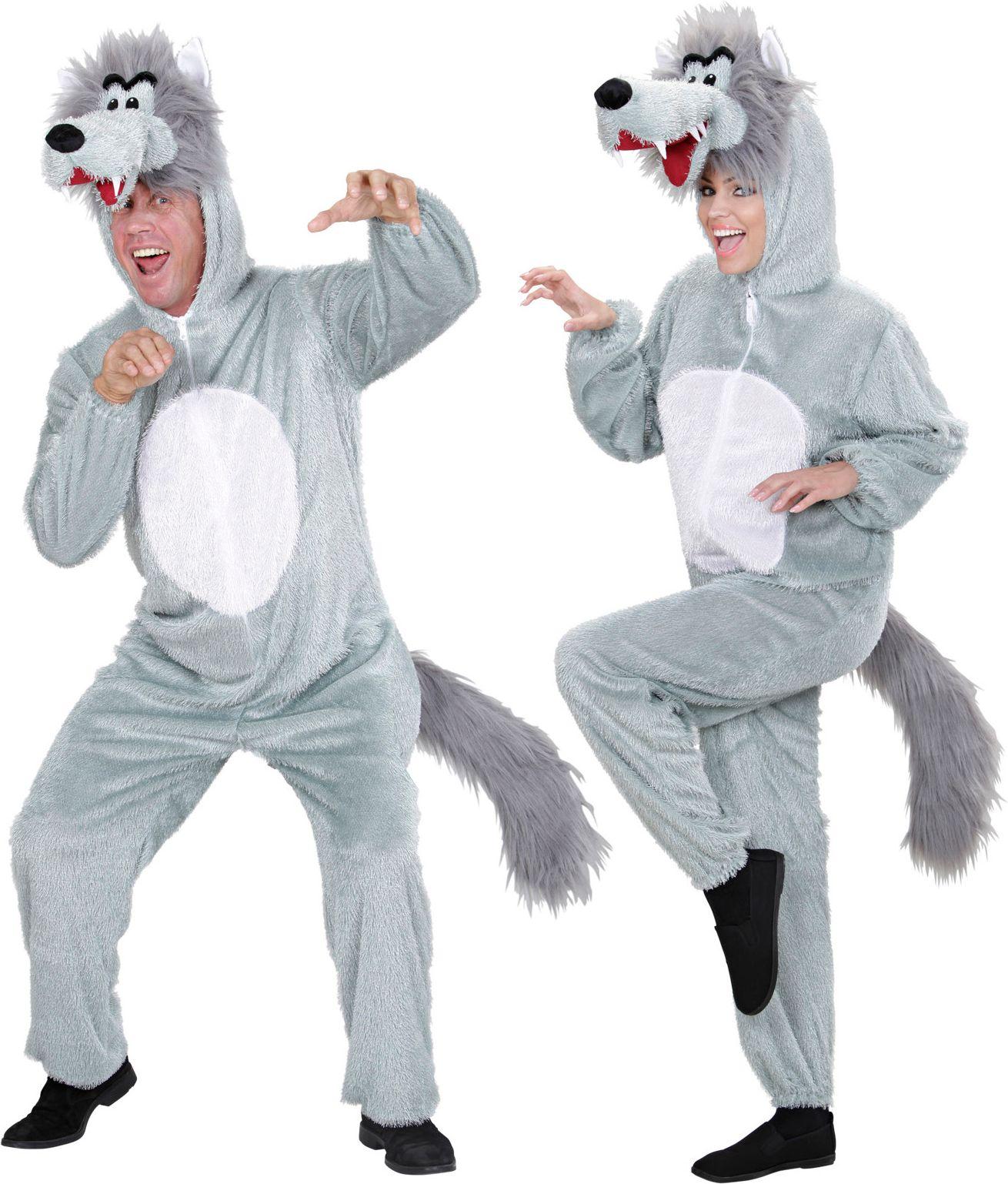 Pluche wolf kostuum
