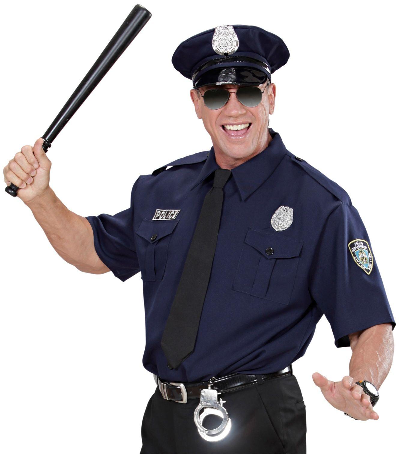 Politie agent overhemd met das en pet