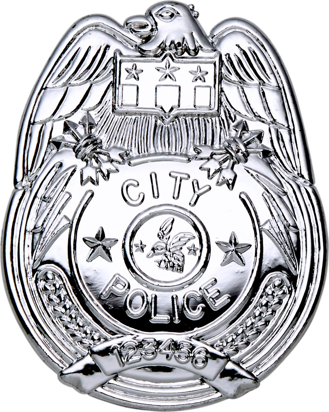 Politie badge zilver