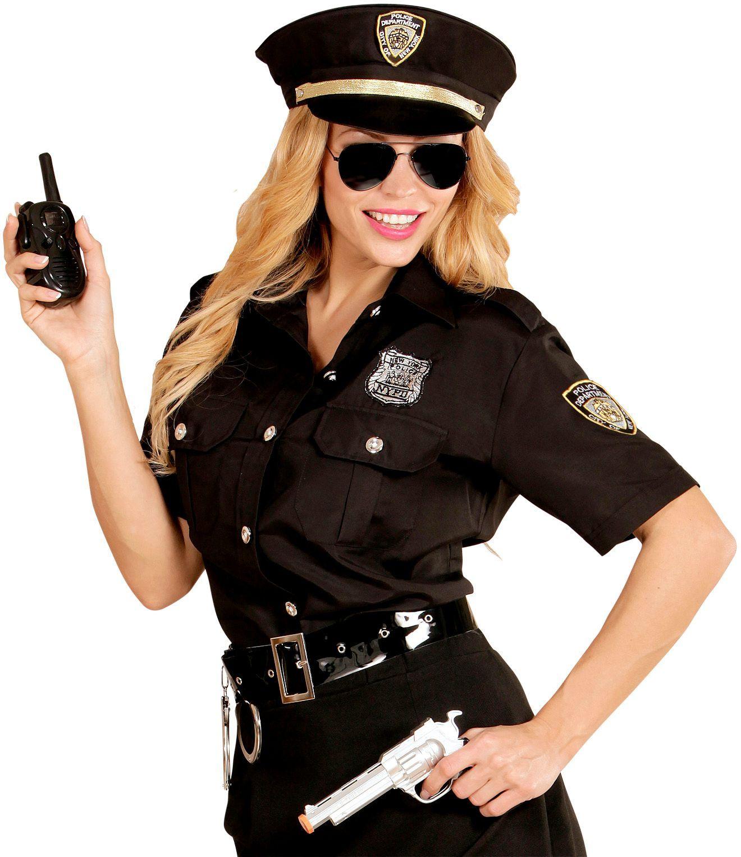 Politie meisje shirt en hoed