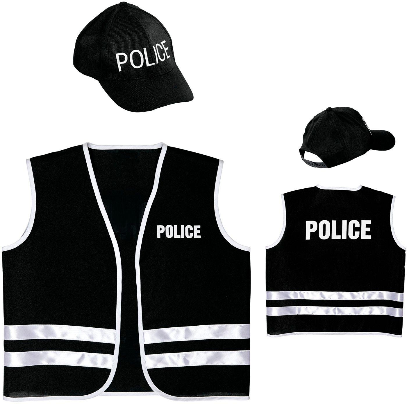 Politie vest met pet