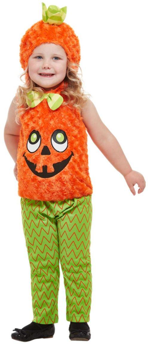Pompoen peuter kostuum oranje