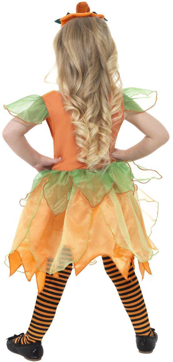Pompoenen fee meisjes kostuum