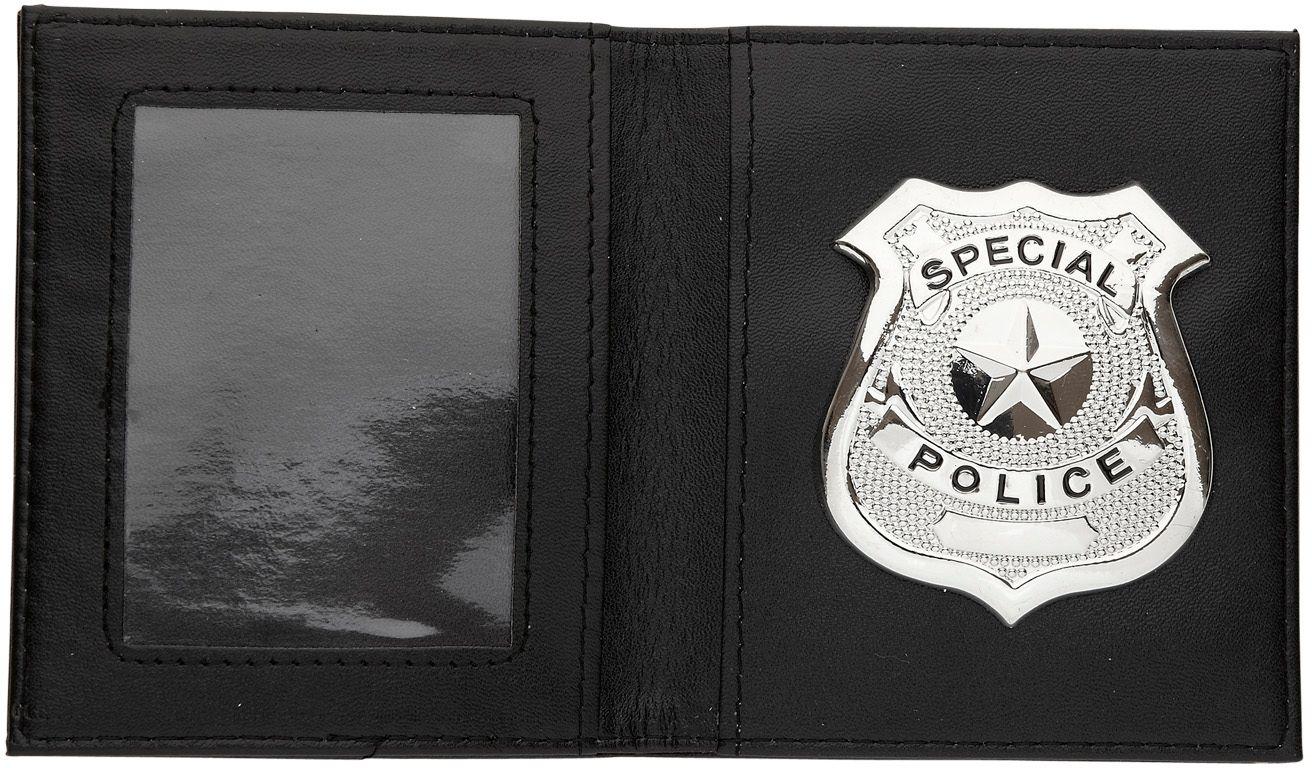 Portemonnee met politiebadge