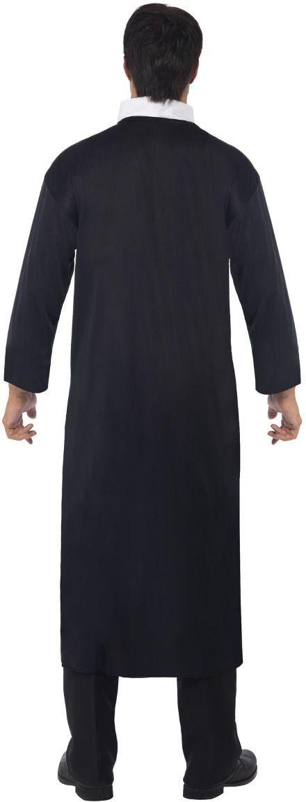 Priester kostuum zwart heren