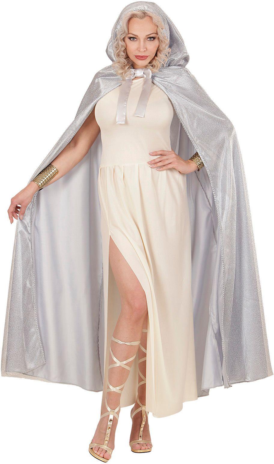Prinses cape grijs One-size-volwassenen