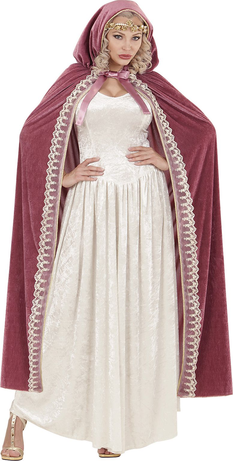Prinses cape roze One-size-volwassenen