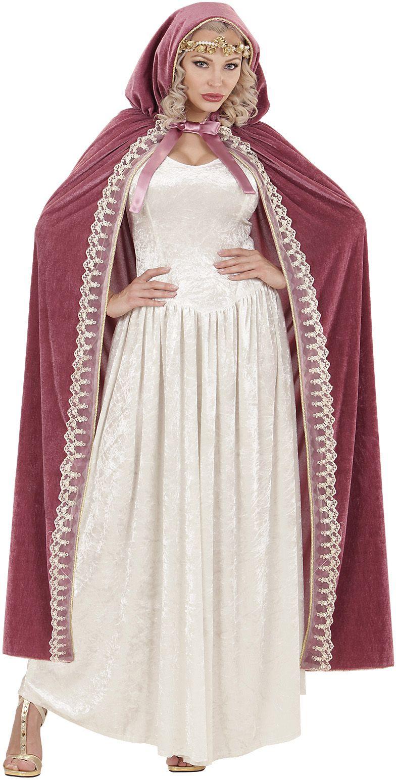 Prinses cape roze One-size-volwassenen