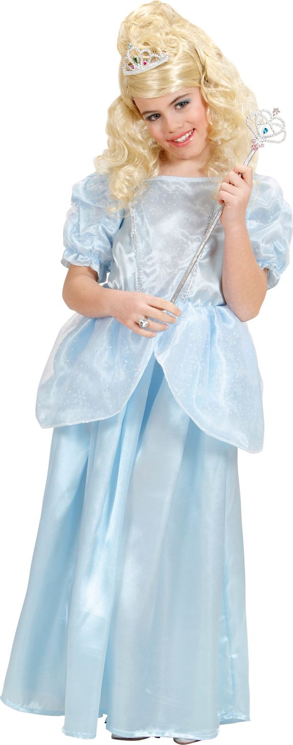 Prinses Lichtblauw Kinderen Kostuum
