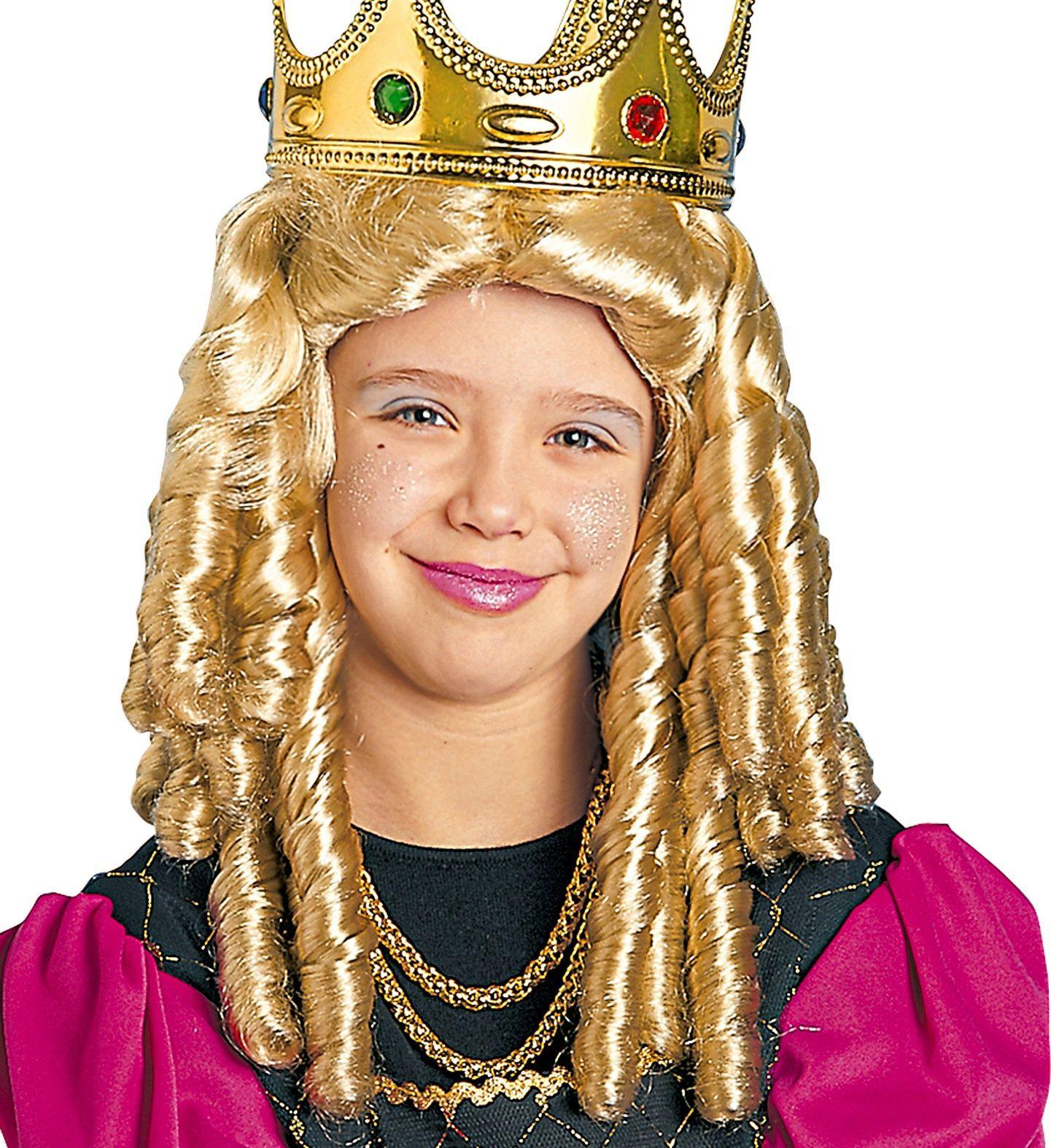Prinses pruik blond