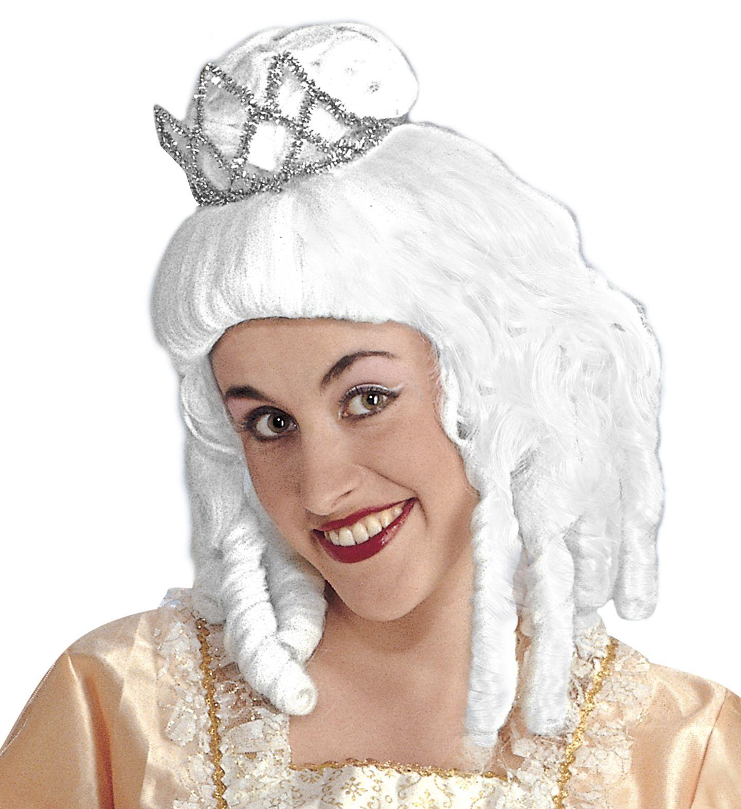 Prinsessen pruik met kroon