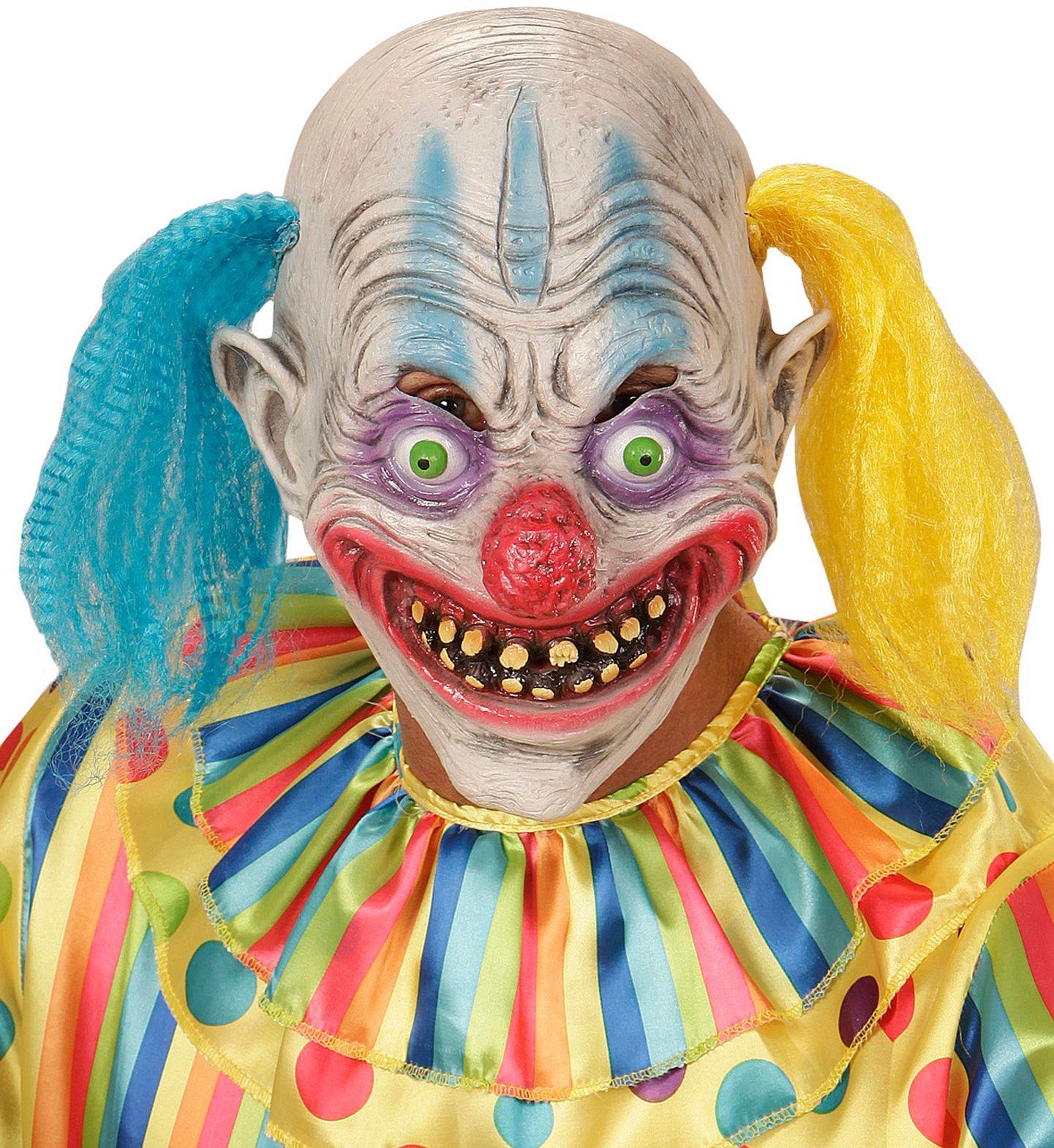Psycho clown masker met staartjes