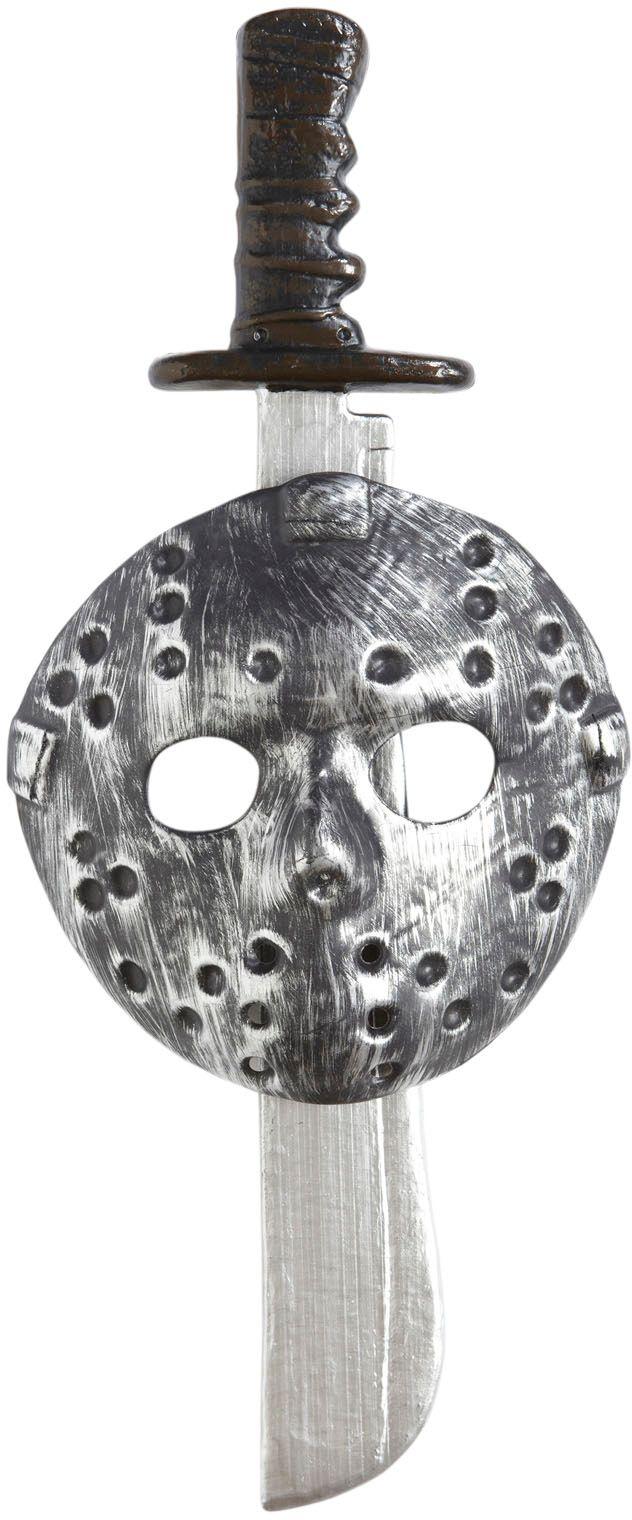 Psychopaat masker met machete