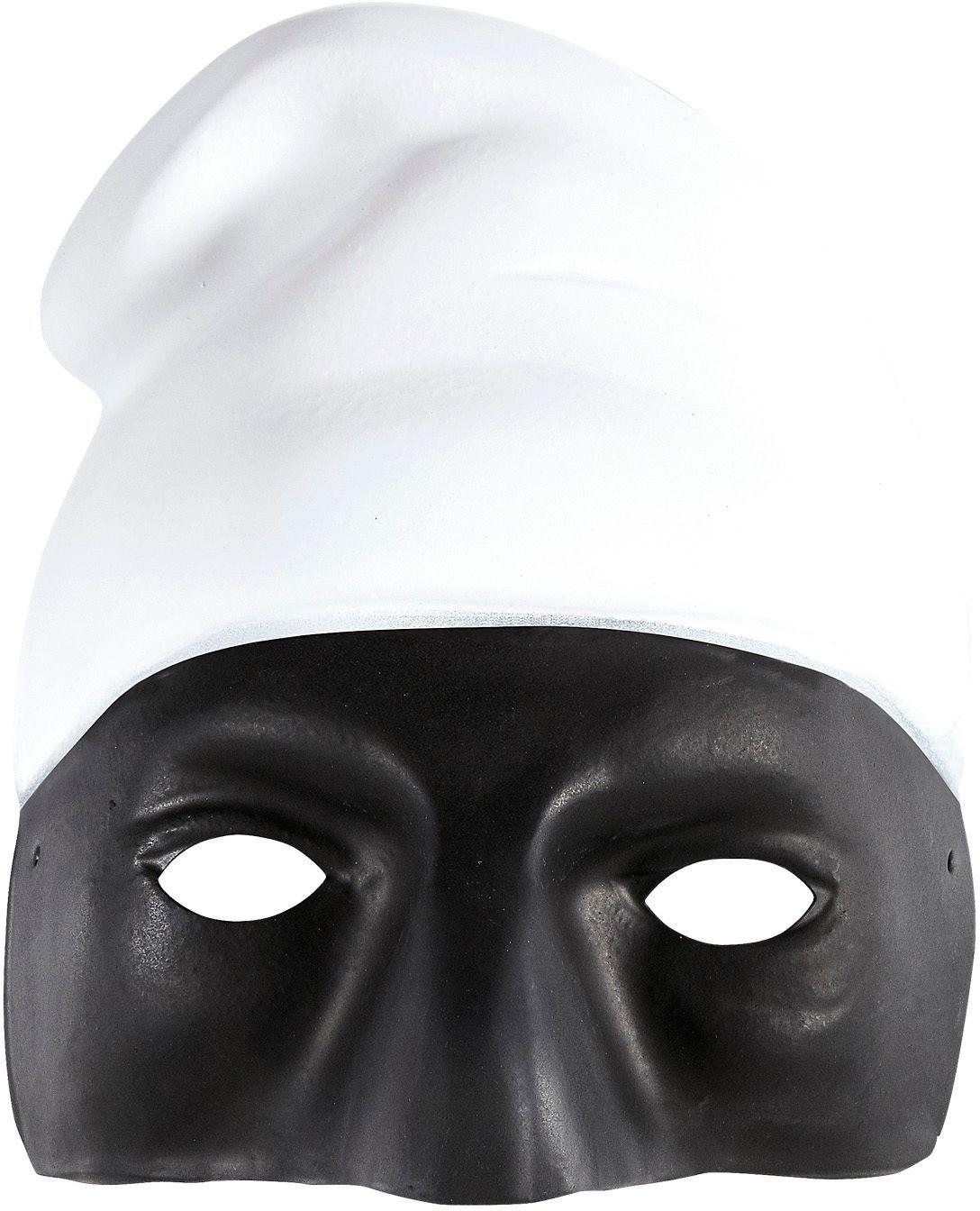 Pulcinella masker zwart