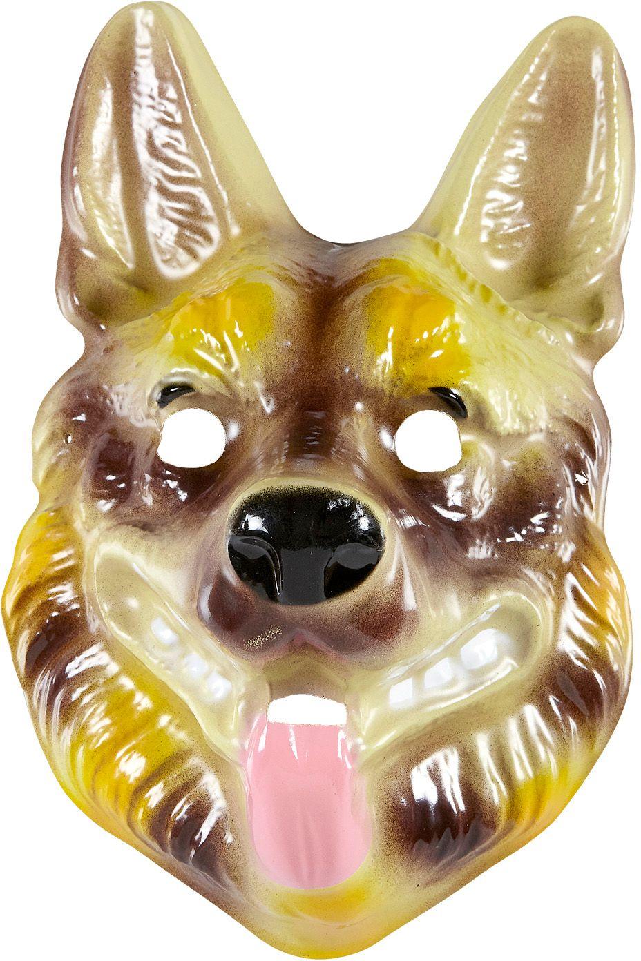 Pvc herdershond masker kind