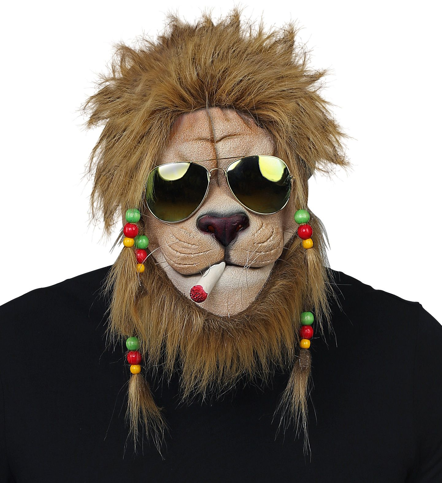 Rasta leeuw masker