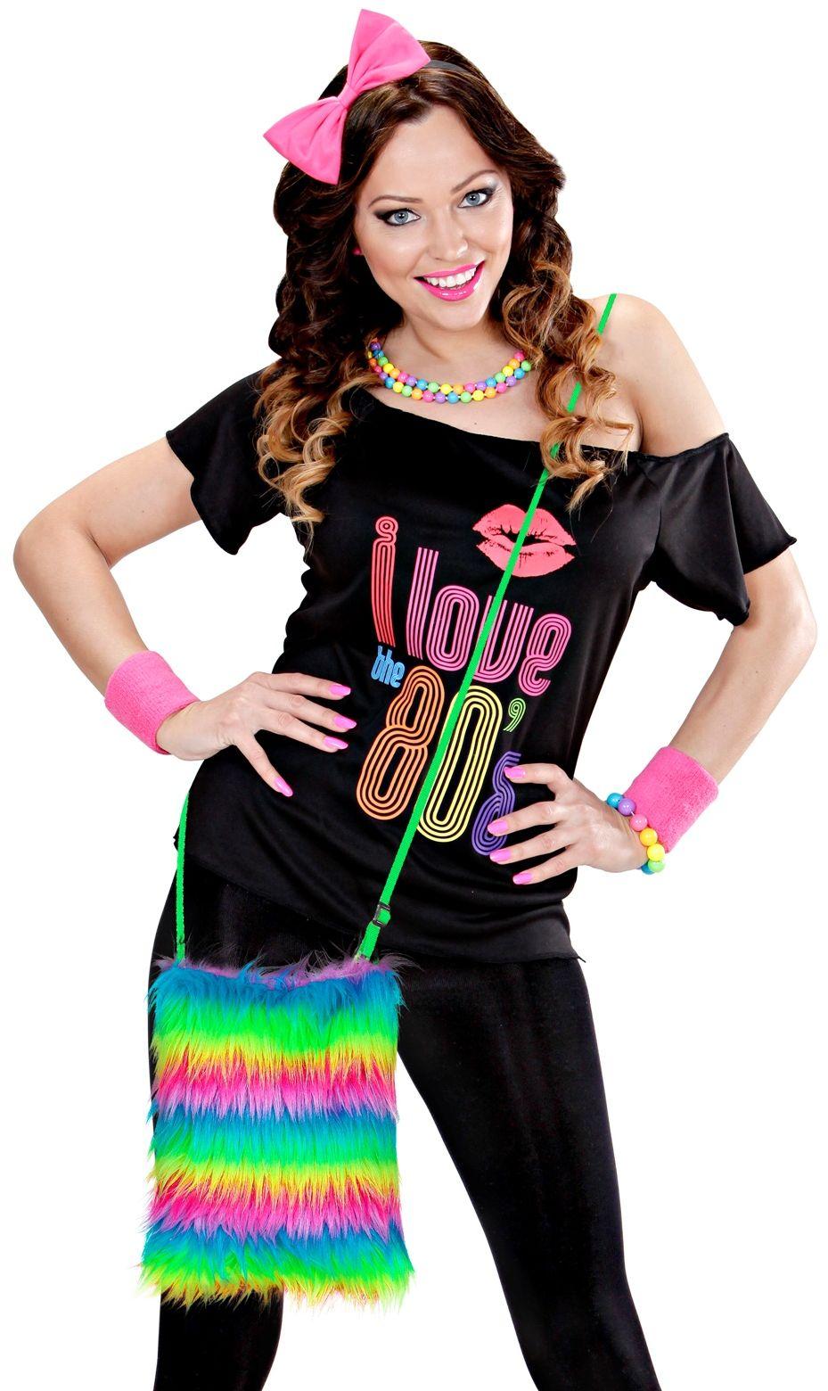 Regenboog carnaval schoudertasje