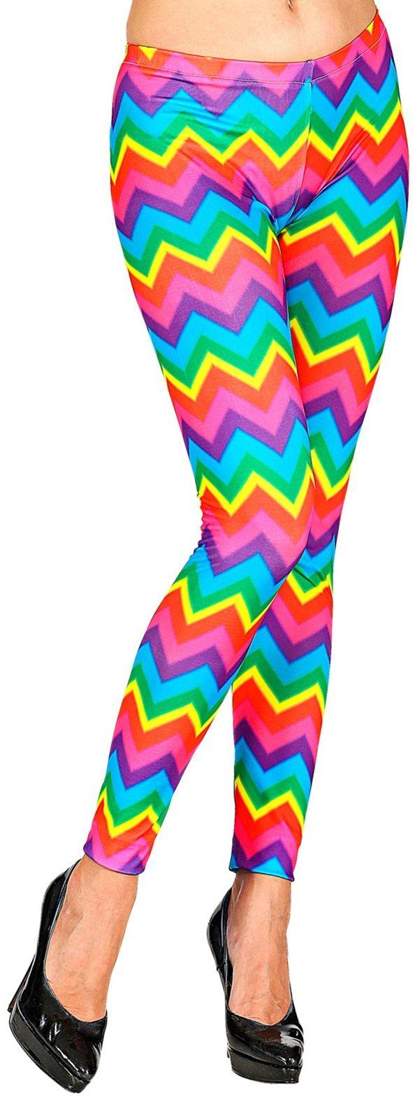 Regenboog disco broek