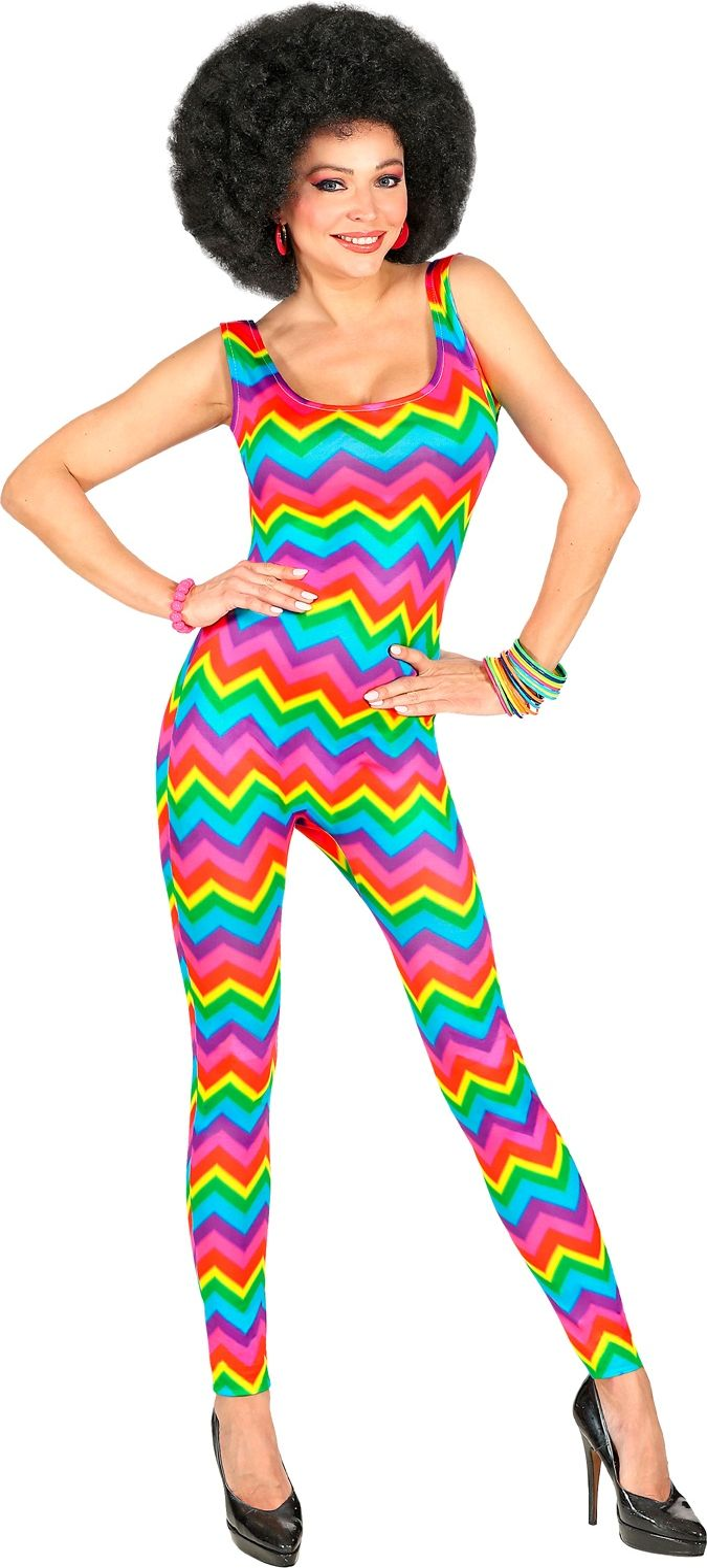 Regenboog disco jumpsuit