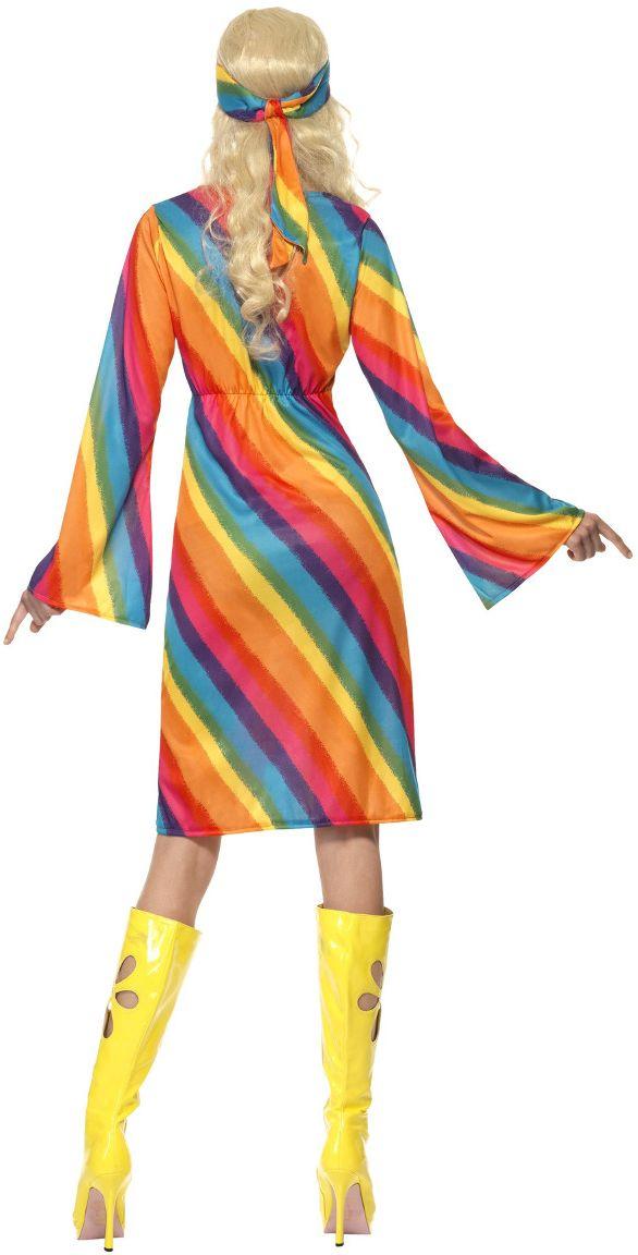 Regenboog hippie jurkje