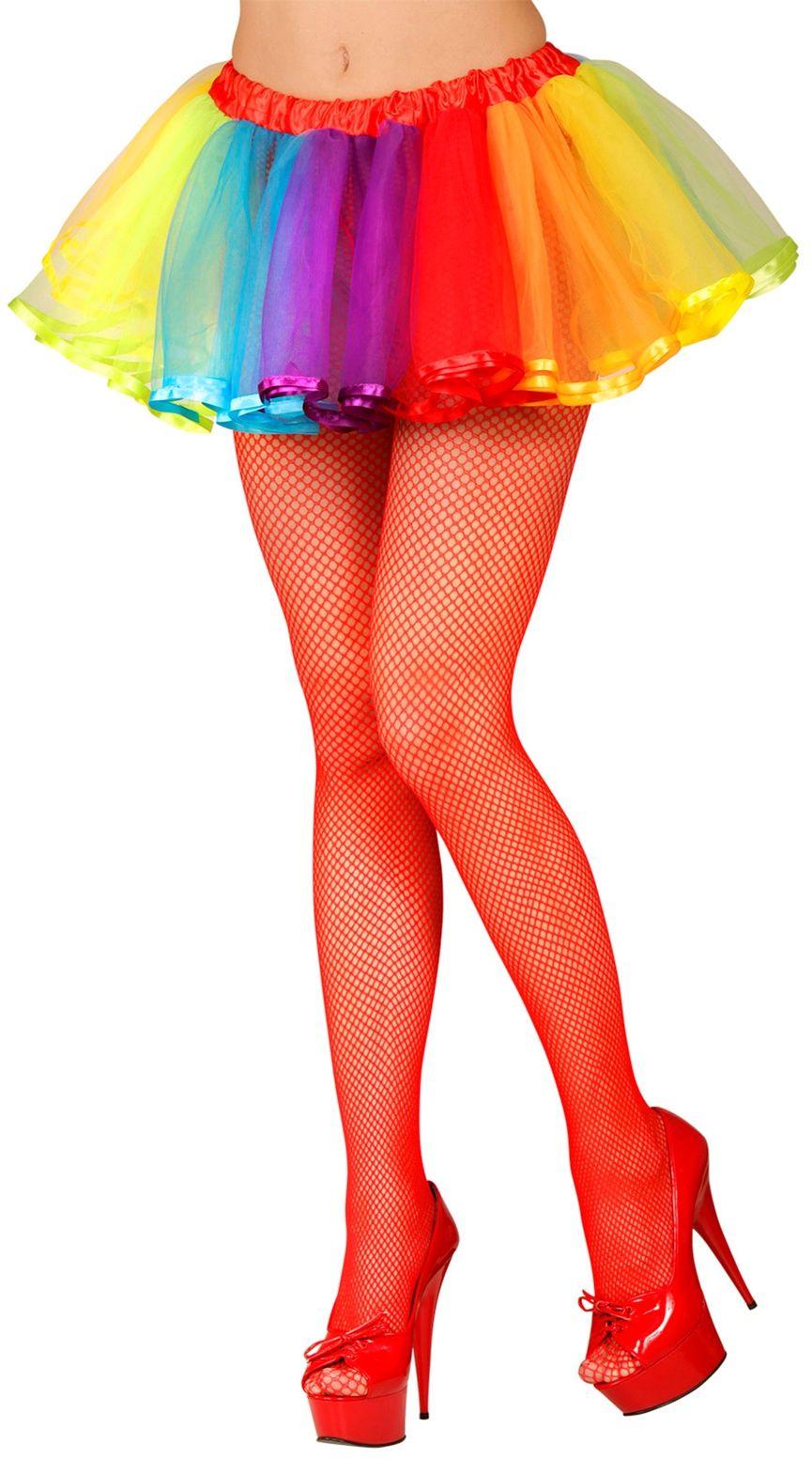 Regenboog neon tutu