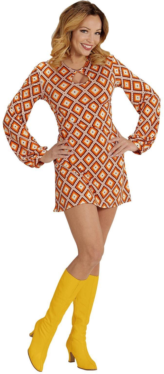 Retro jaren 70 jurk