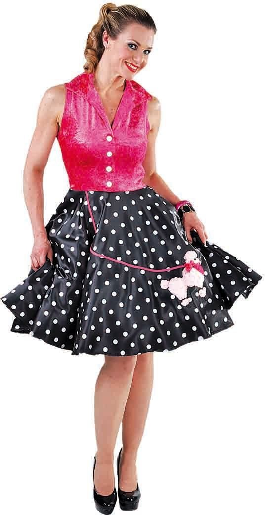 Retro jurk met poedel