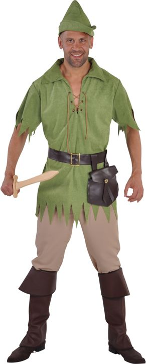 Robin hood kostuum groen heren