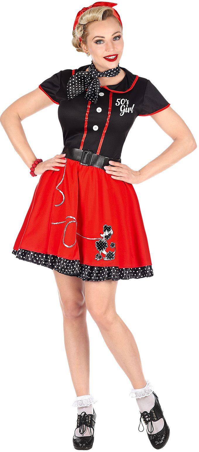 Rode 50s girl jurkje