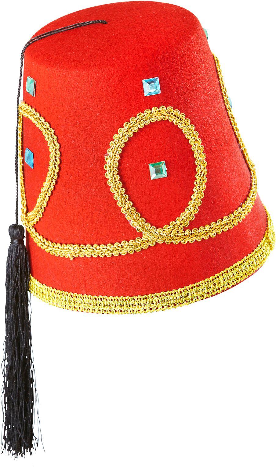 Rode aladdin fez hoed