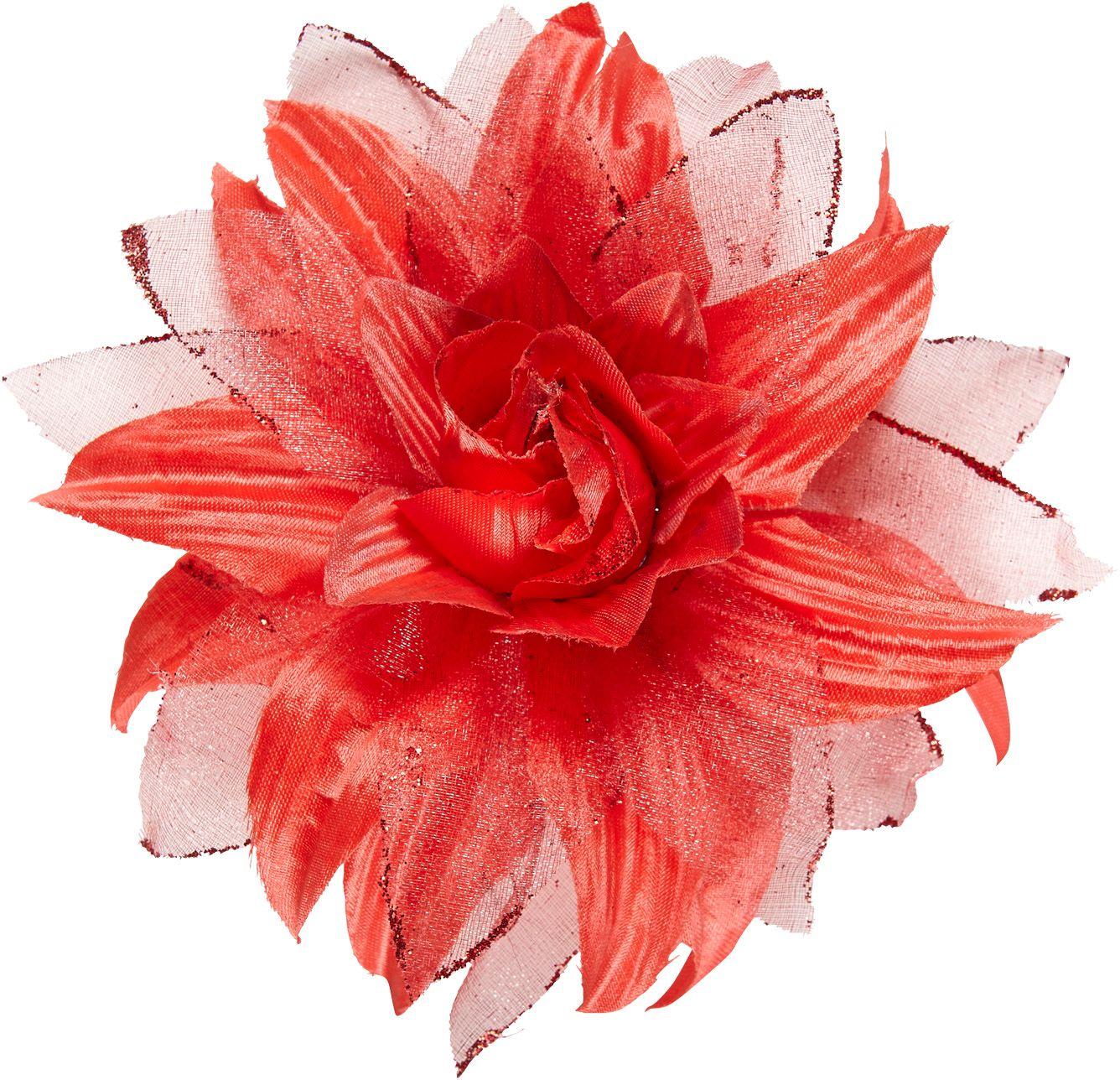 Rode bloem haarclip