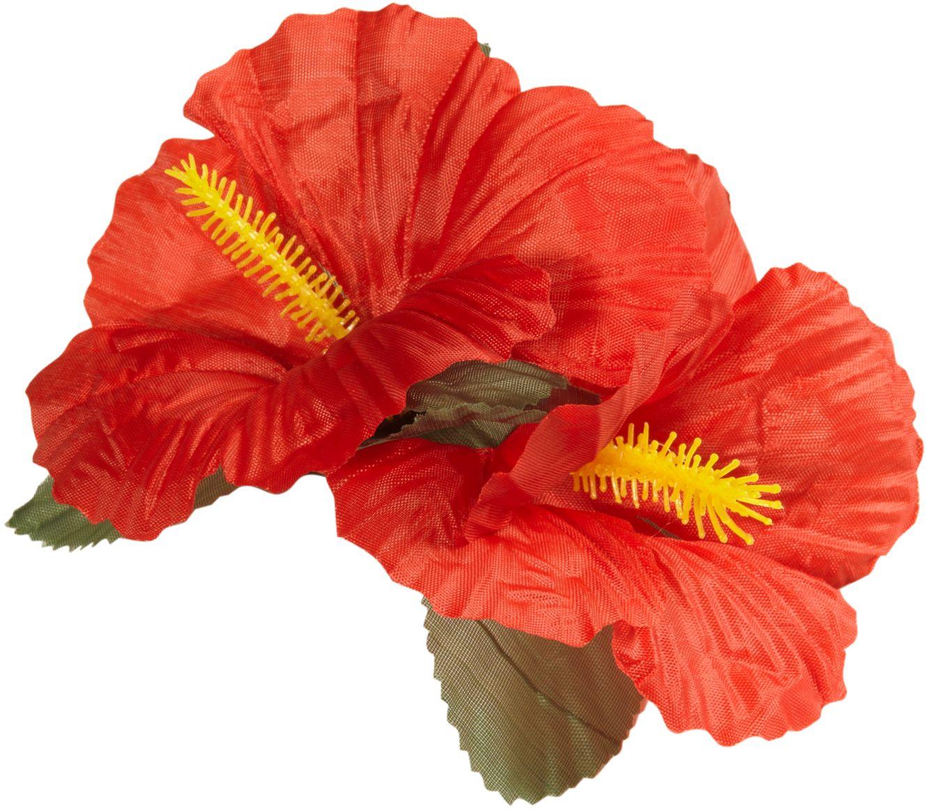 Rode bloemen haarclip