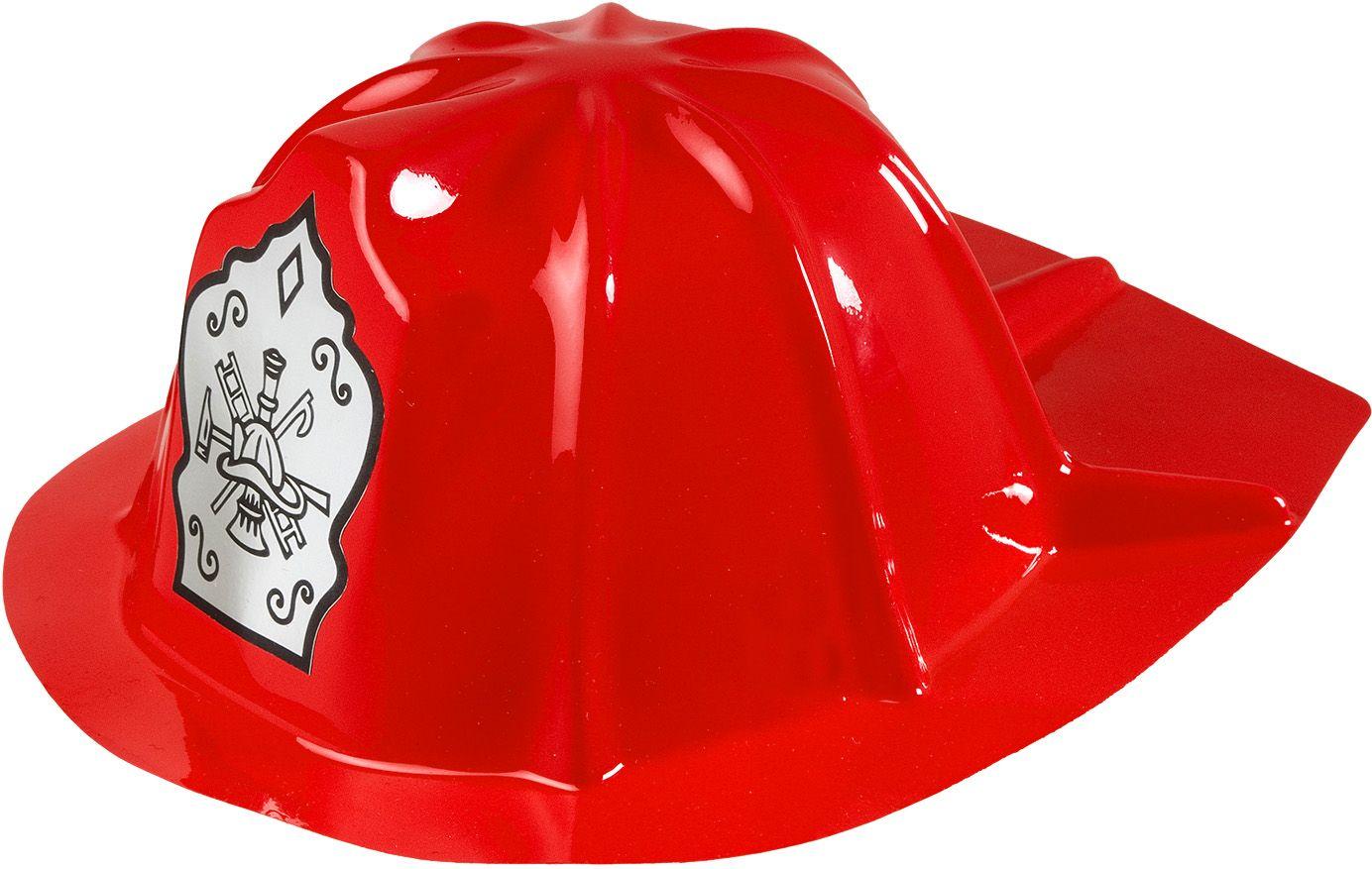 Rode brandweerhelm