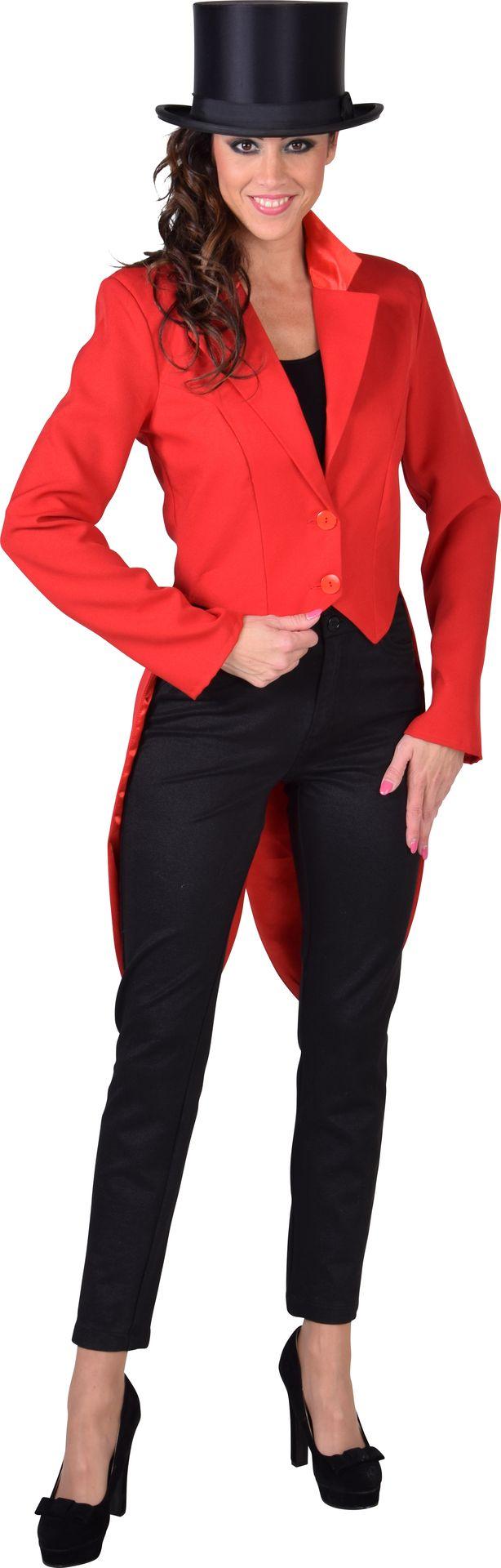Rode cabaret slipjas dames