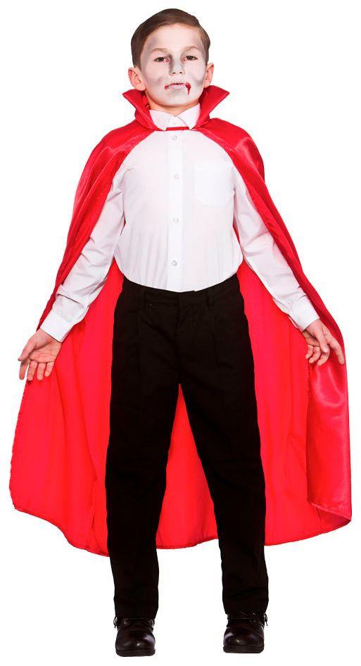 Rode cape met kraag kind