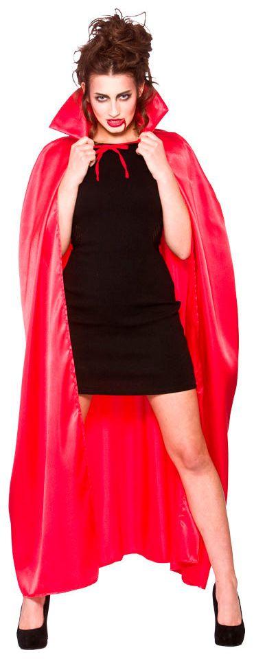 Rode cape met rode kraag