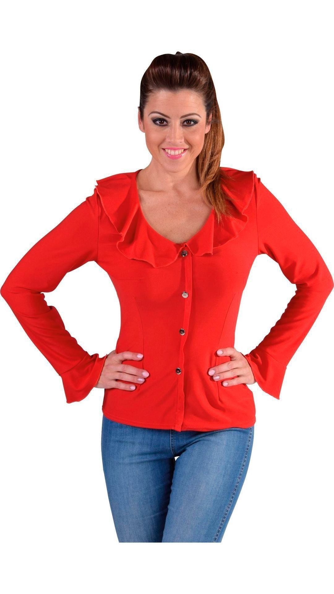 Rode carnavals blouse dames