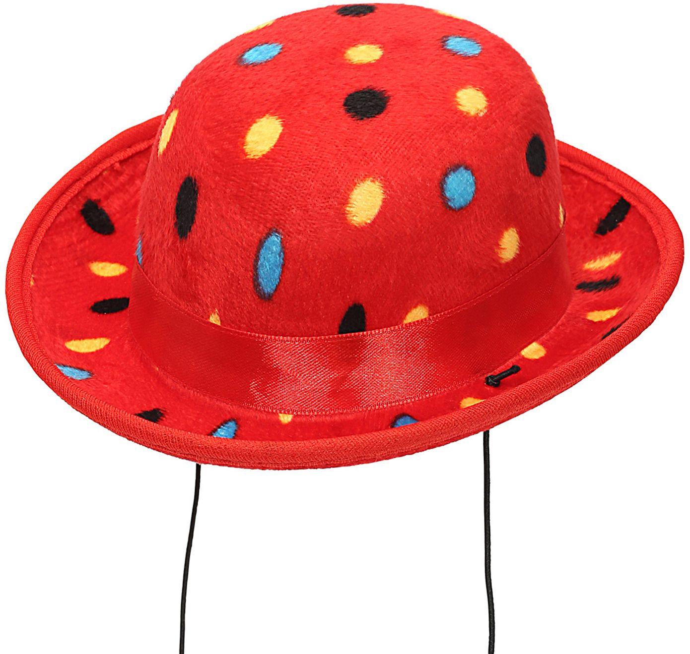Rode clowns hoed