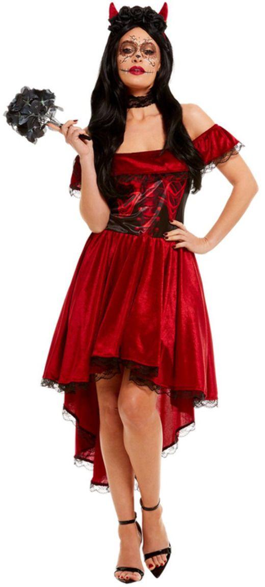 Rode dag van de doden duivel outfit