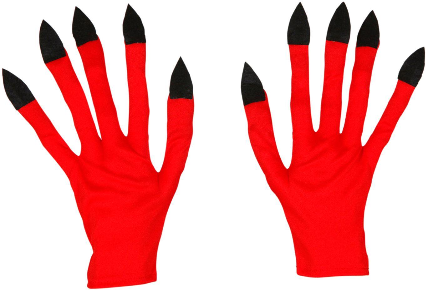 Rode duivel handschoenen