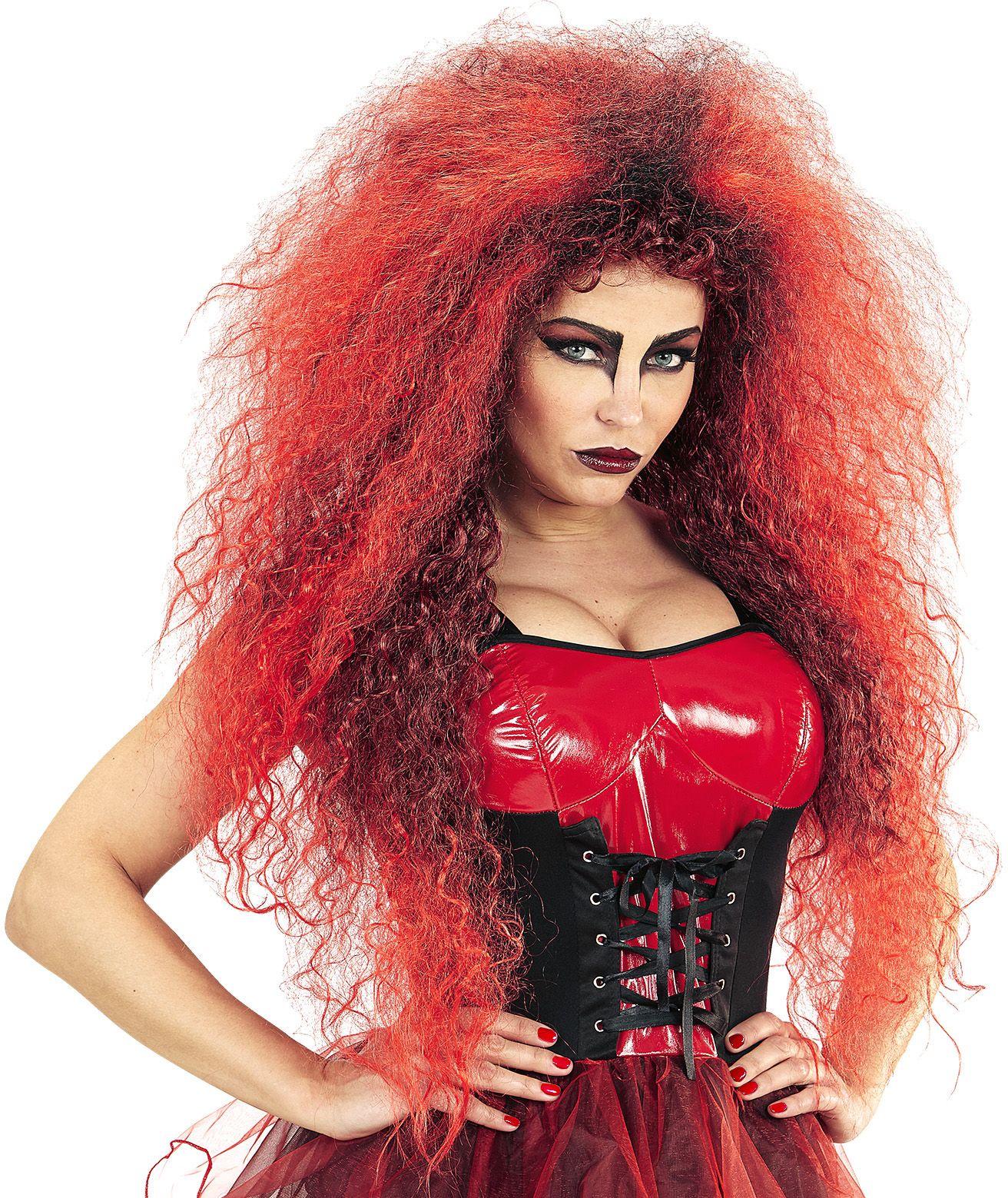 Rode duivel pruik