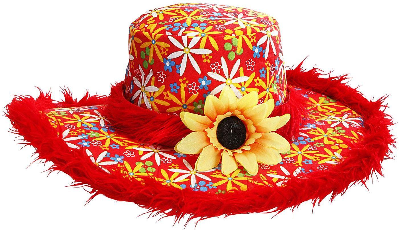 Rode flower power hoed