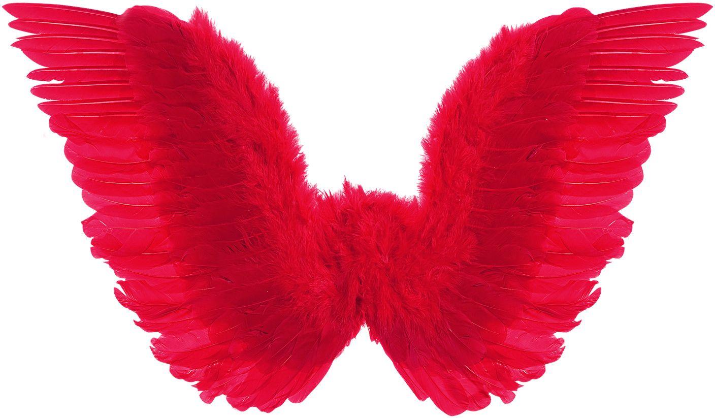 Rode geveerde vleugels