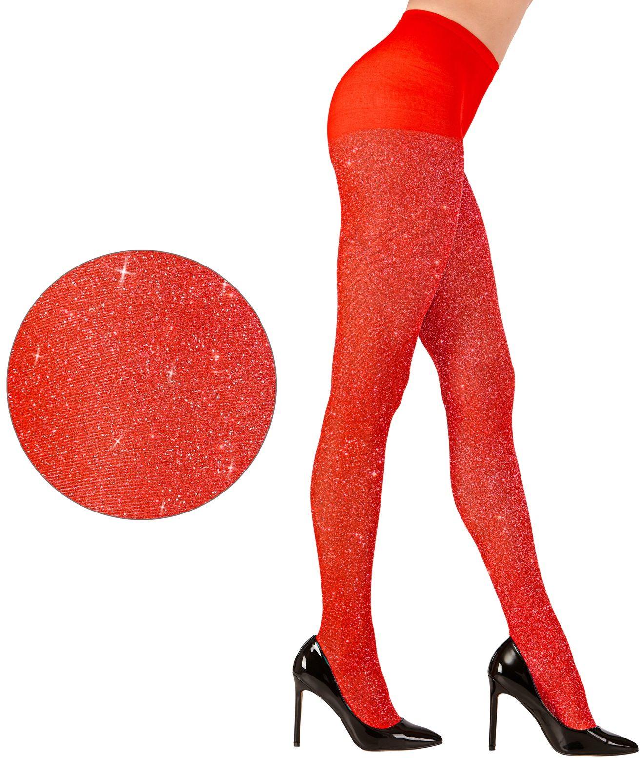 Rode glitter panty