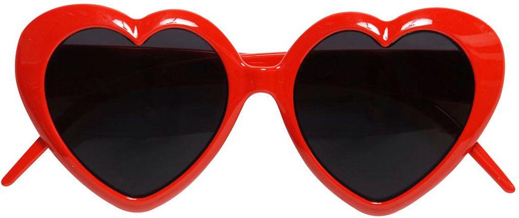 Rode hartjes bril