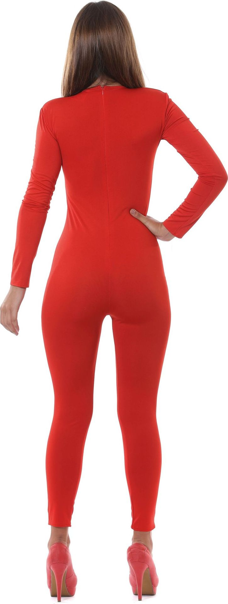 Rode jumpsuit dames