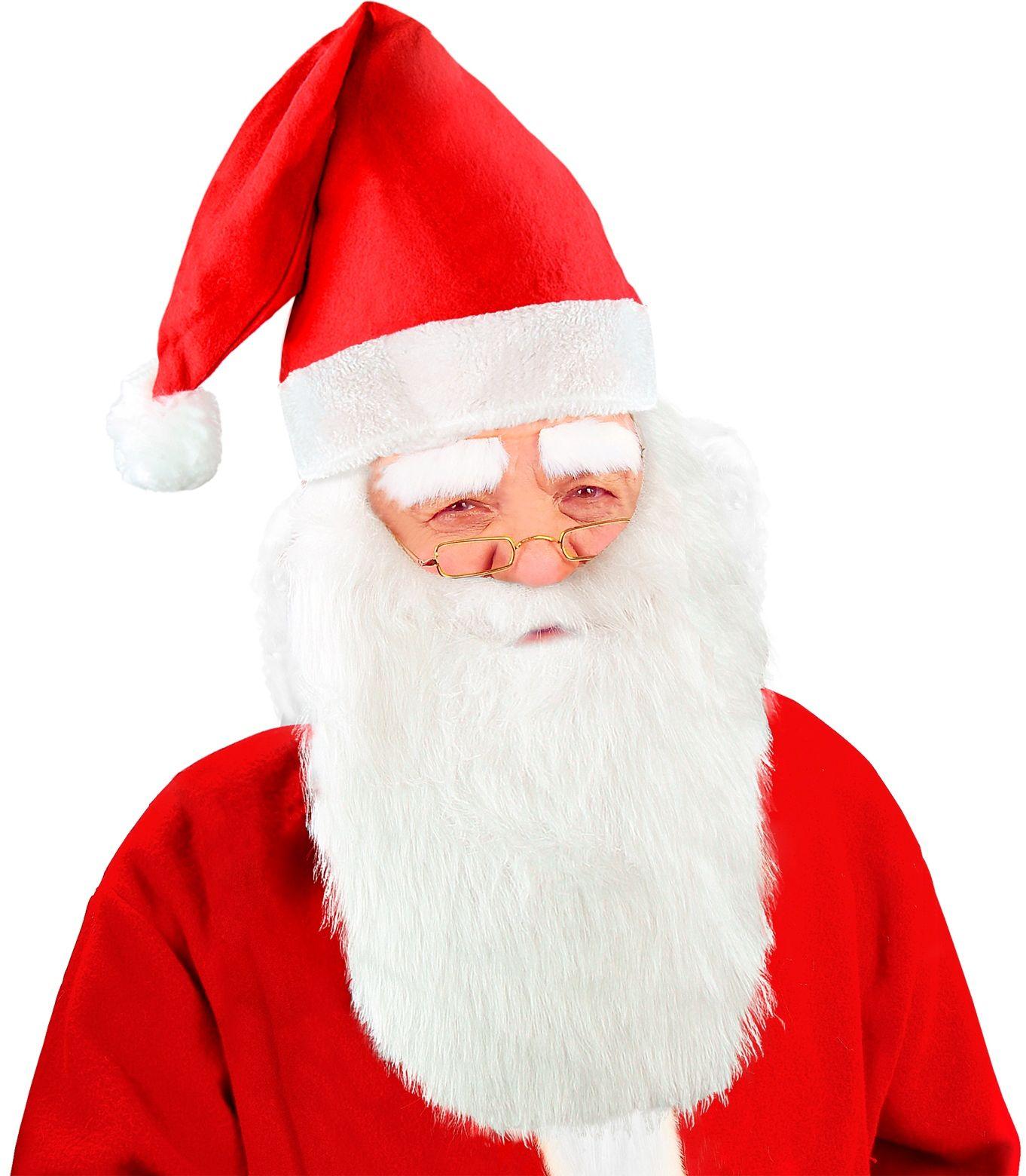 Rode kerstman muts met baard