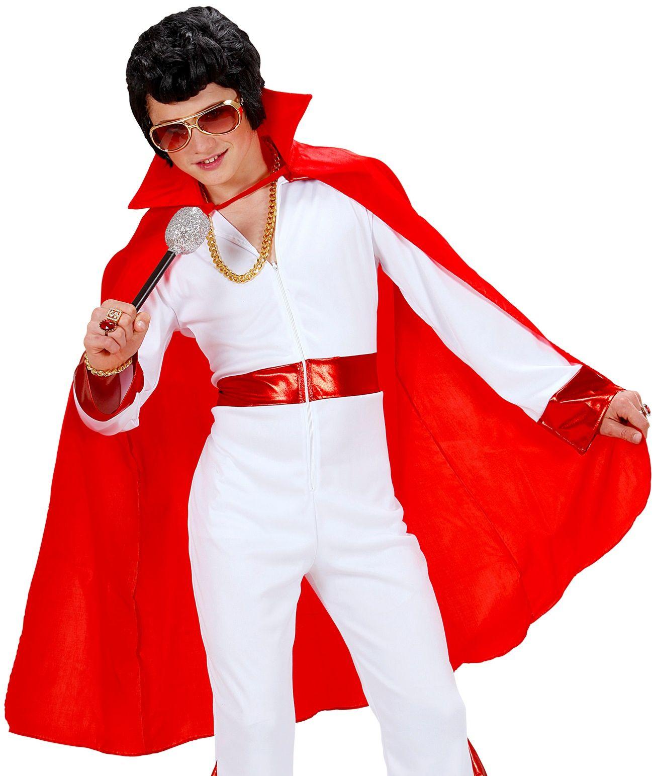 Rode kinder cape met kraag